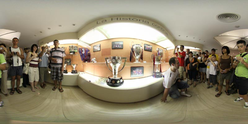 360stonehopper Trophy Display Camp Nou Barcelona